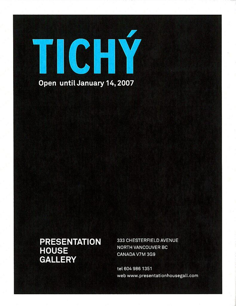 Tichy, Gallery Invitation - back