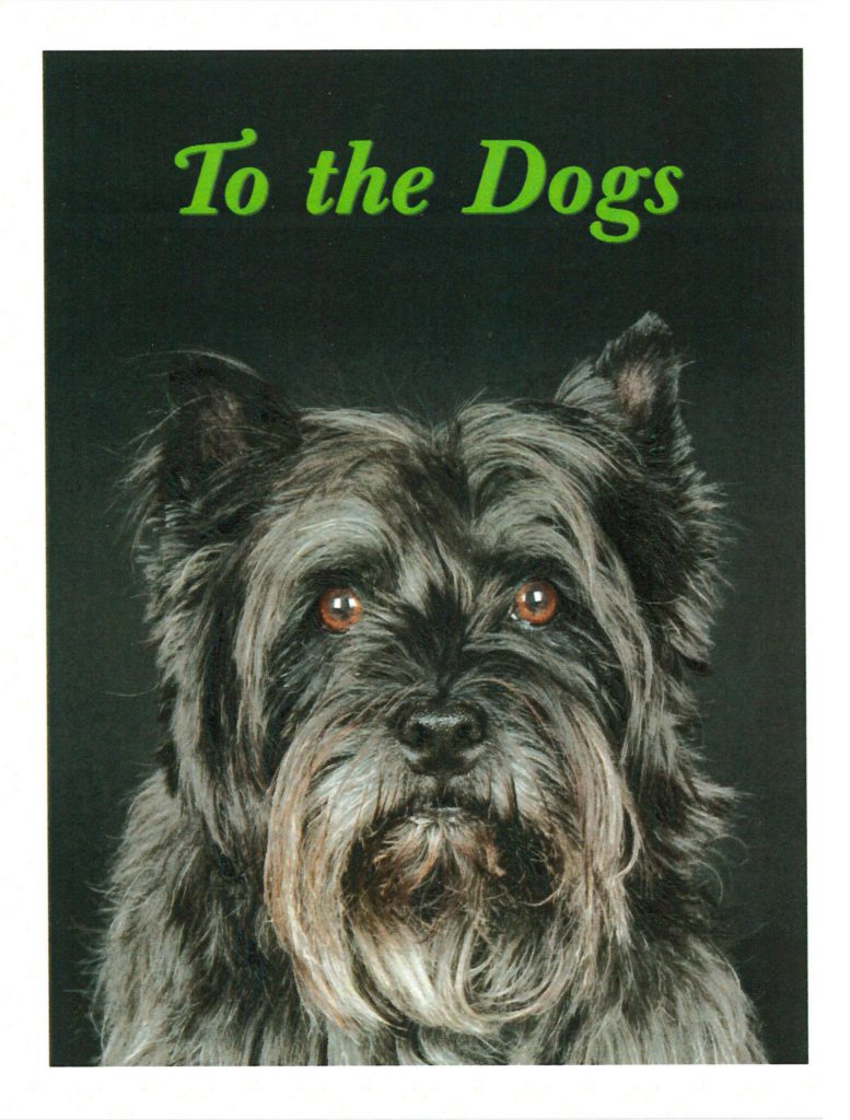 To the dogs, Gallery Invitation - front. ( Photo by Shari Hatt )