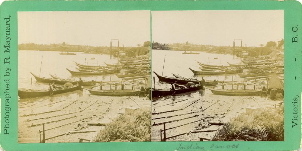 """Richard Maynard, """"Victoria, BC,"""" c. 1880, stereograph card (1084)"""