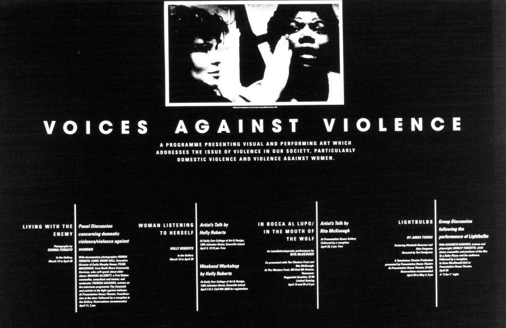 """Voices Against Violence"" poster"