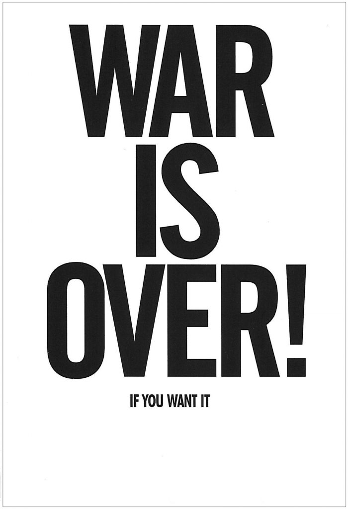 John Lennon and Yoko Ono, War is Over! If You Want It, 1999, Postcard (front)
