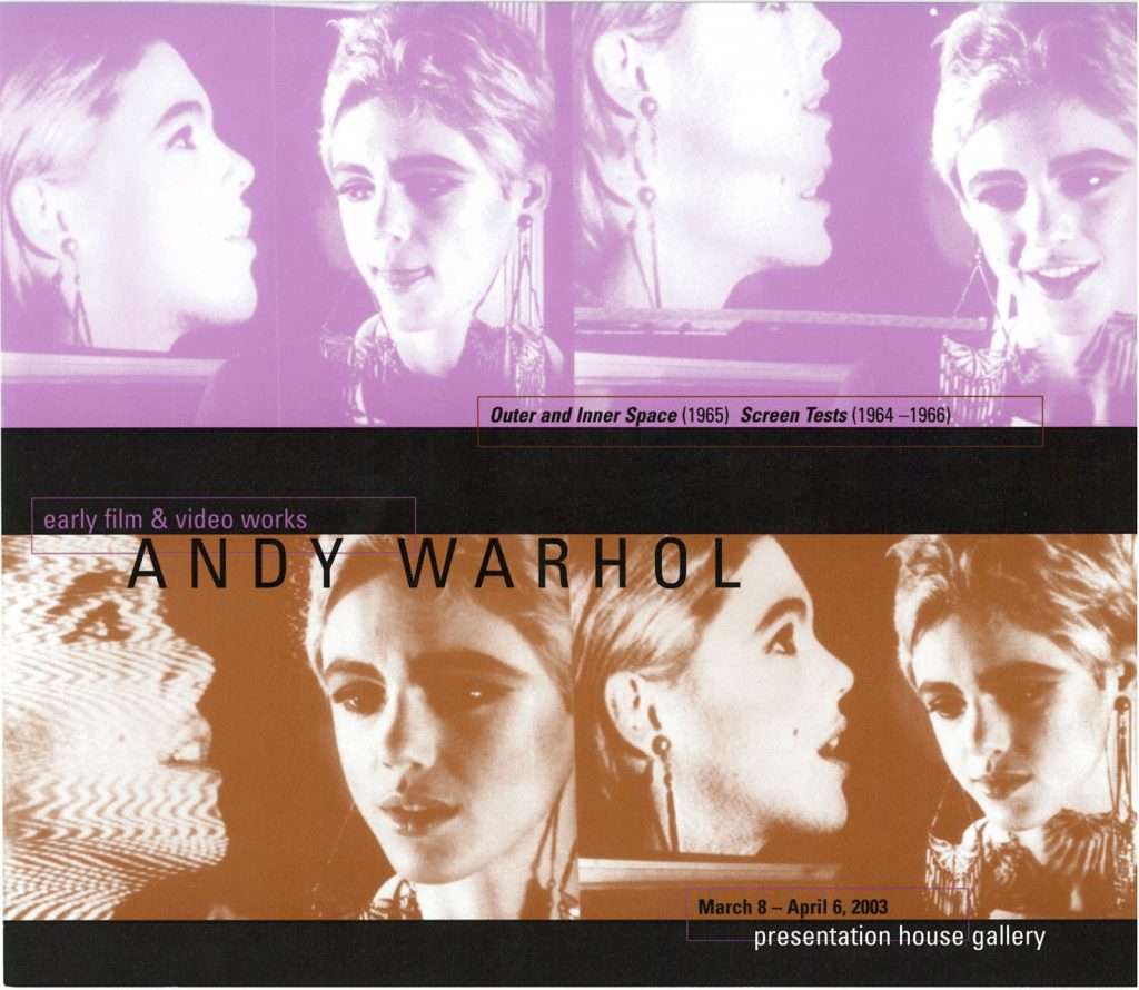 Andy Warhol, Gallery Invitation - front