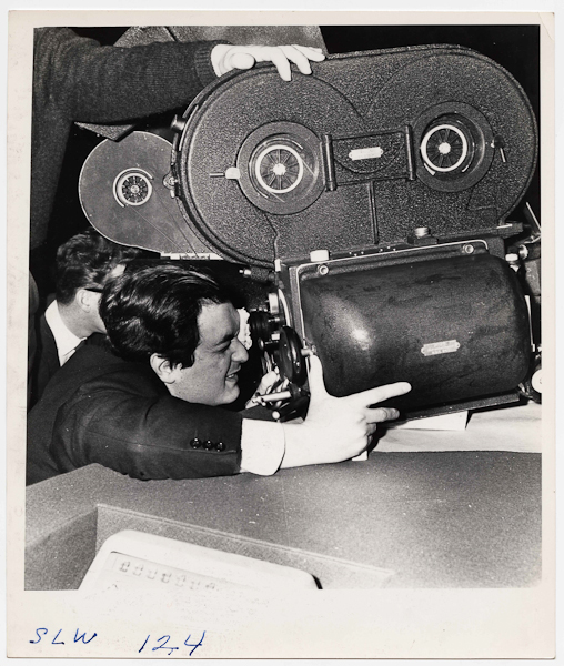 Weegee, [Stanley Kubrick directing his film Dr. Strangelove or: How I Learned to Stop Worrying and Love the Bomb], 1963, © Weegee/International Center of Photography