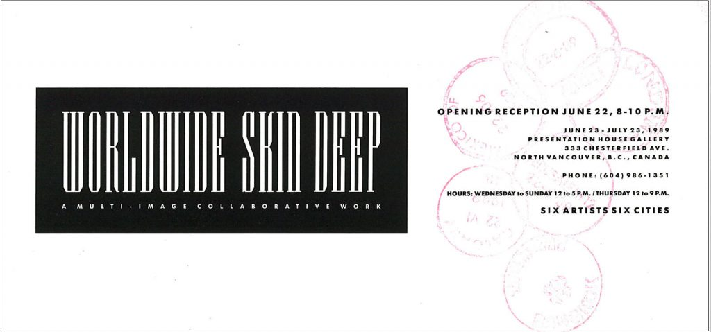 worldwide skin deep, Gallery Invitation - front