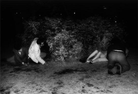 Kohei Yoshiyuki, Untitled, 1971, From the series The Park, Gelatin Silver Print © Kohei Yoshiyuki. Courtesy Yossi Milo Gallery, New York.