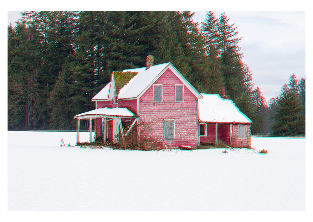 "Dylan McCartney, ""Red House on a Snowy Day"" 2017. (3D Image)"