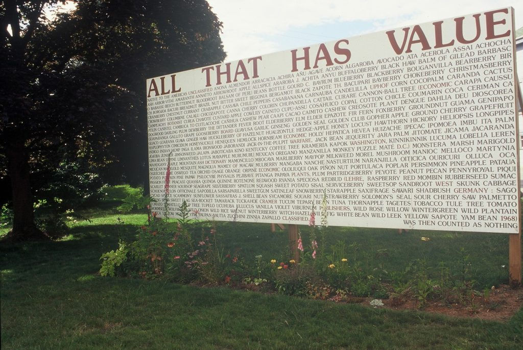 Ron Benner All That Has Value Billboard on the PHG grounds