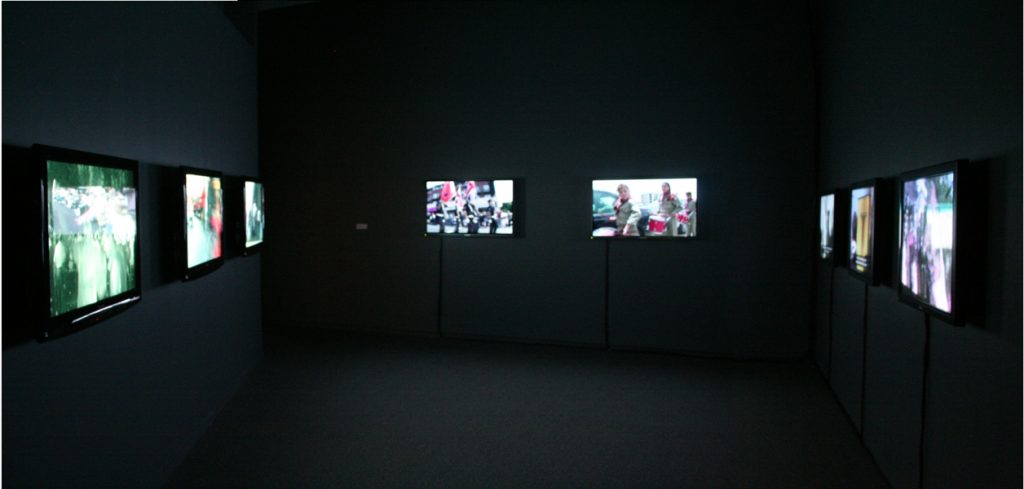 Installation view, Models for Taking Part (Artur Zmijewski)