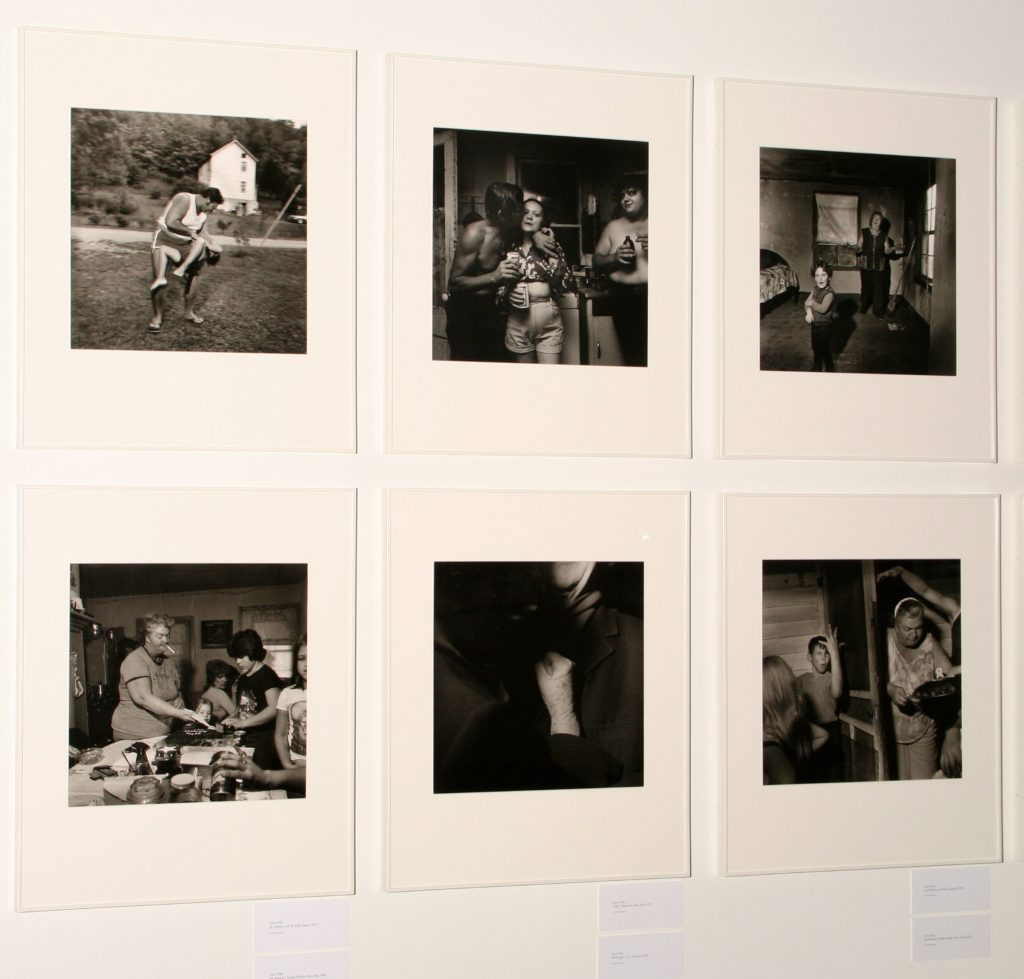 Installation view, Larry Fink work in Lisette Model and Her Successors
