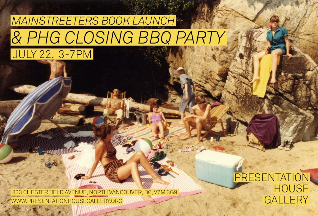 Mainstreeters Book Launch and PHG Closing Party Invitation