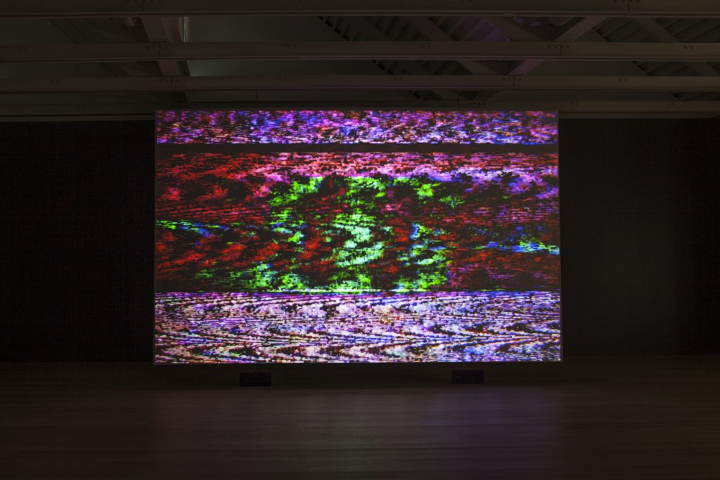 "Installation view, Susan Hiller, ""Resounding (Infrared)"", 2013, single projection video installation with sound, © Susan Hiller; courtesy Lisson Gallery"