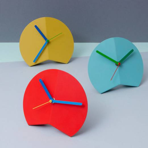 Mountain Fold Desk Clock by Block Design, available from The Polygon Shop