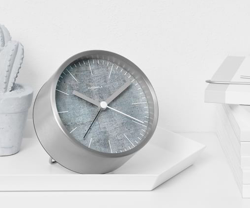 Structure Jr. Alarm Clock by Cloudnola (3 designs available), available from The Polygon Shop