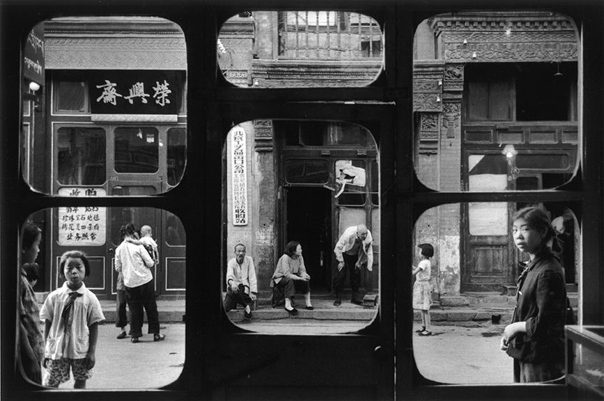 Marc Riboud, The antique dealers' street, Peking. 1965. ©Marc Riboud. gelatin silver print