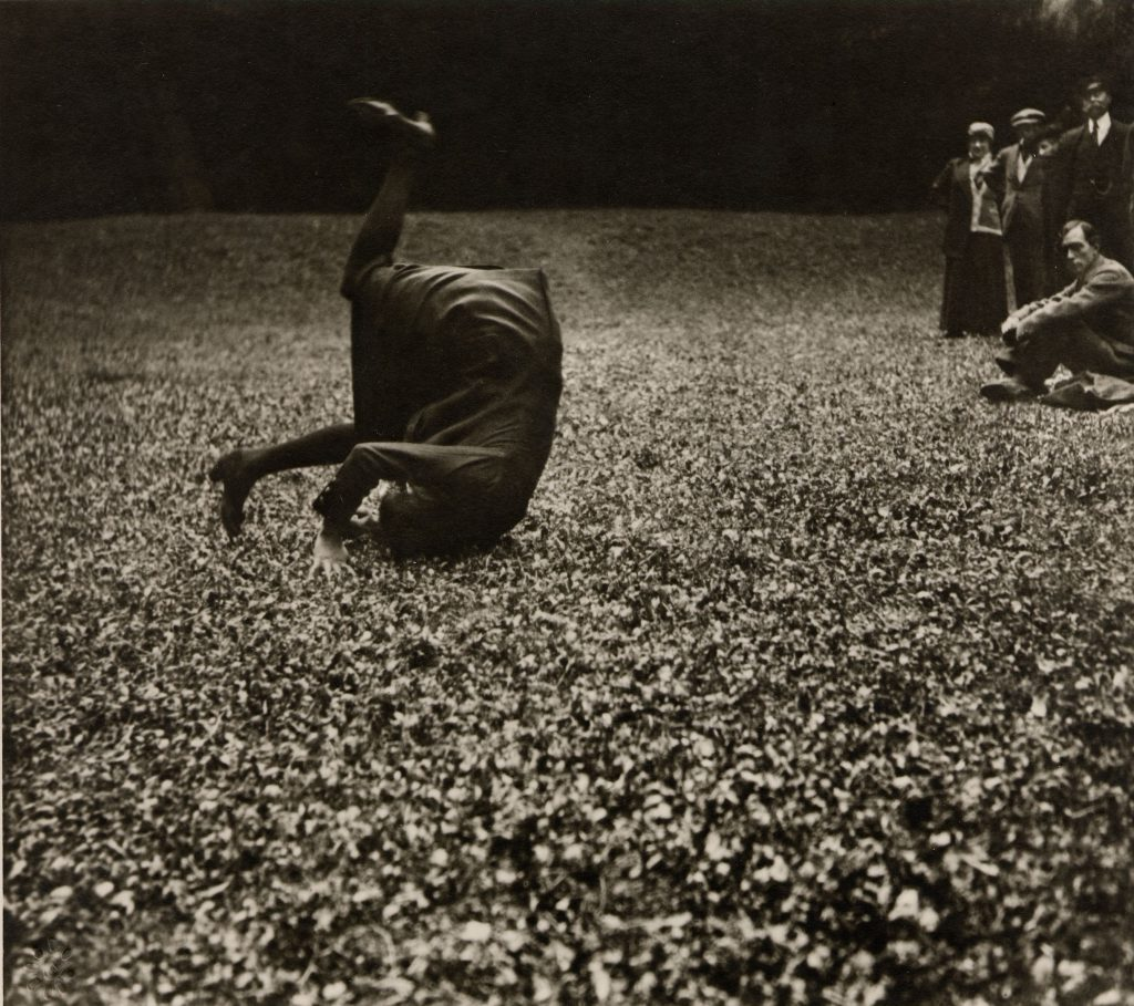 Jacques Henri Lartigue, 1913 - Marly Forest - My Cousin Simon. Gelatin silver photograph