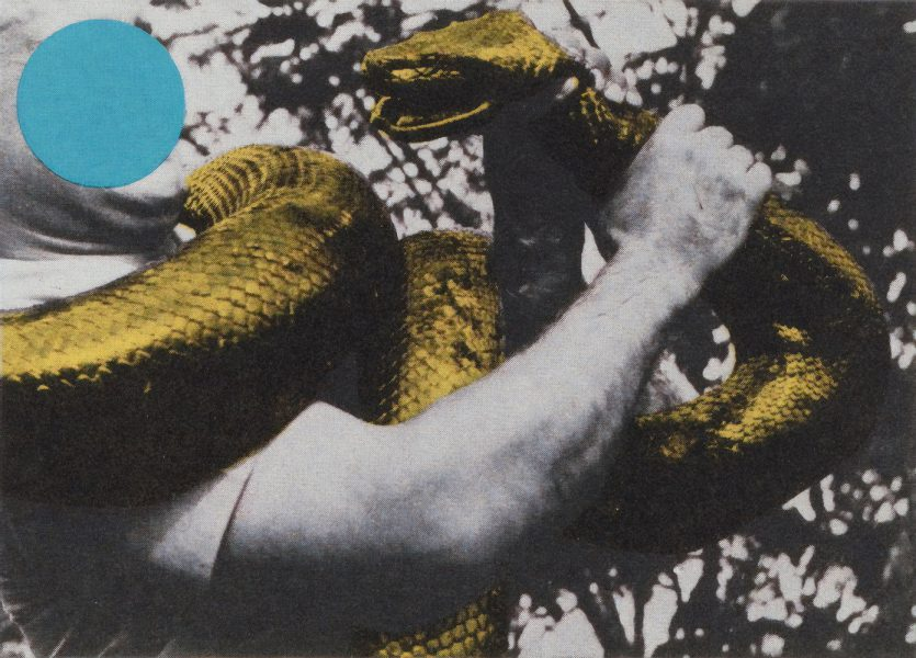 John Baldessari, Man With Snake, 1990, courtesy of private collection.