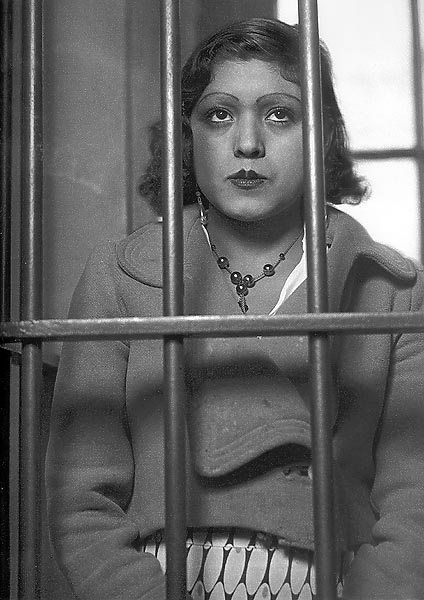 A woman behind bars, Mexico City, ca.1935