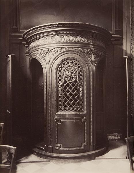 Eugene Atget, Le Confessional, St Germain des Paris, c.1900. albumen print