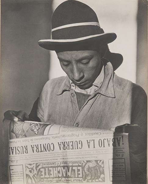 Tina Modotti, Worker Reading El Machete, 1927. gelatin silver print