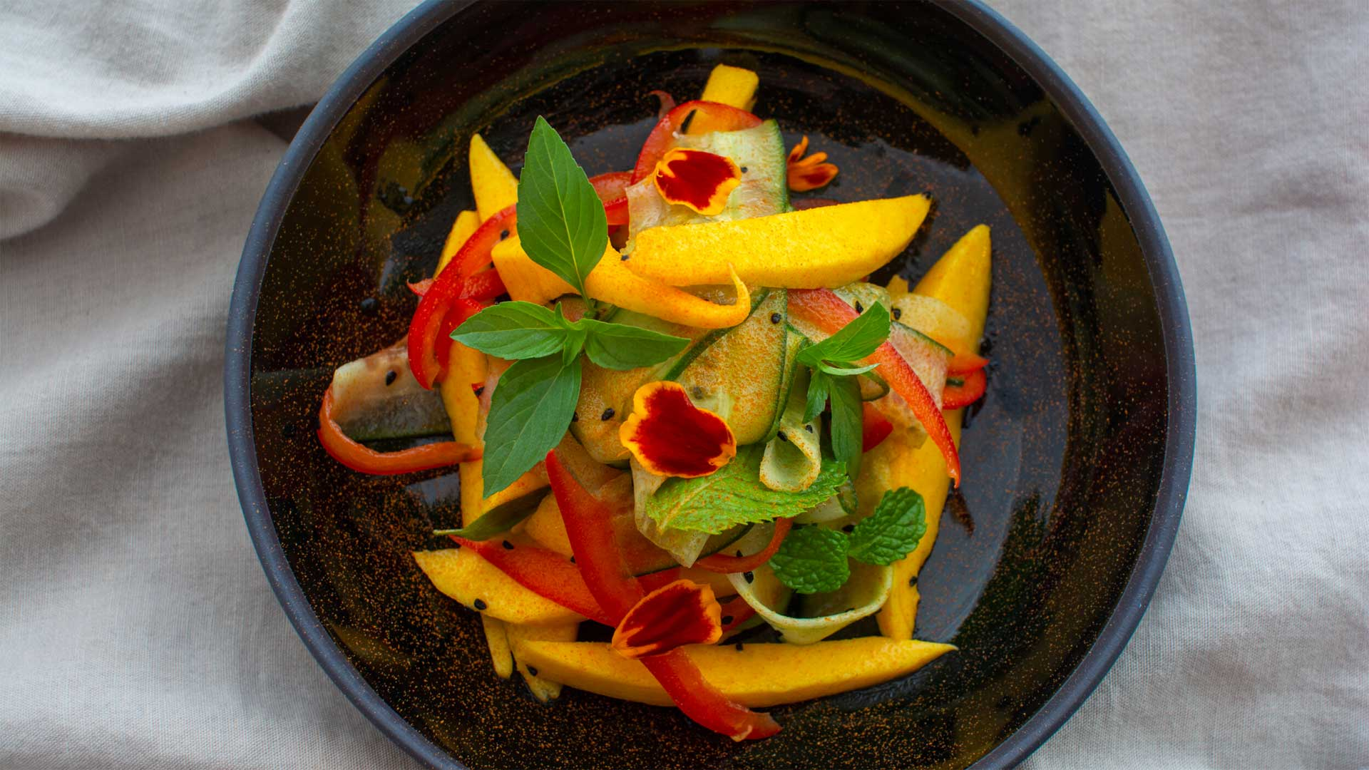 Sam Olayinka makes mango salad