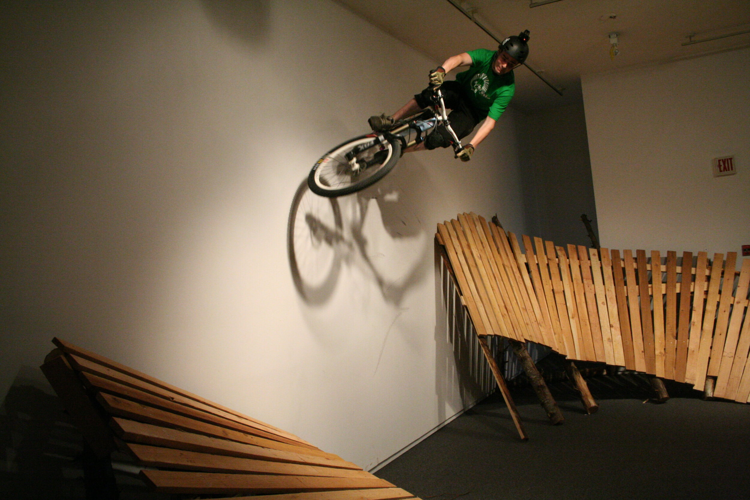 Mountain bike performance during the Flow exhibition.